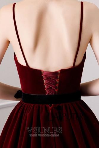 Vestido de fiesta Triángulo Invertido Cordón Natural Drapeado Corte-A - Página 8