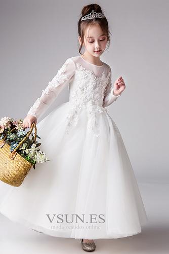 Vestido niña ceremonia Apliques Joya Formal Pera Corte-A Cremallera - Página 4