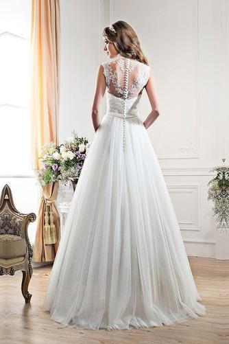 Vestido de novia Fajas Encaje Corte-A primavera Escote con cuello Alto - Página 3