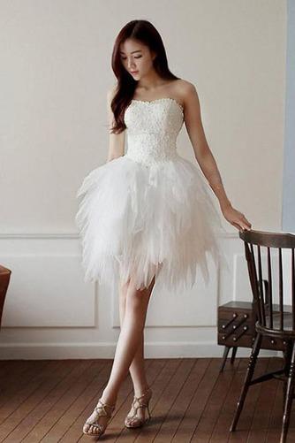 Vestido de novia Corto Asimètrico Natural Cordón Informal Escote Corazón - Página 1
