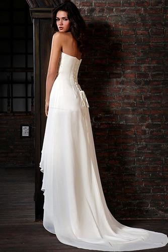 Vestido de novia Elegante Cordón Escote Corazón Gasa Plisado Natural - Página 2