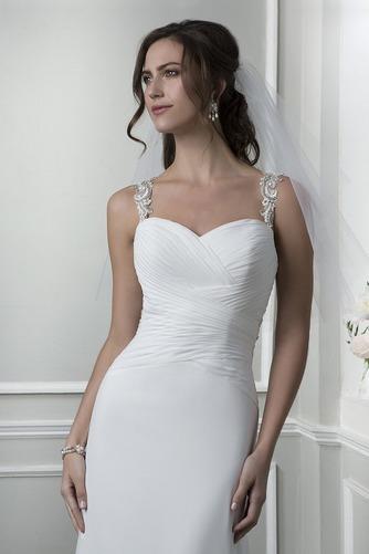 Vestido de novia Playa Pura espalda Escote Corazón Gasa Verano Corte Recto - Página 3