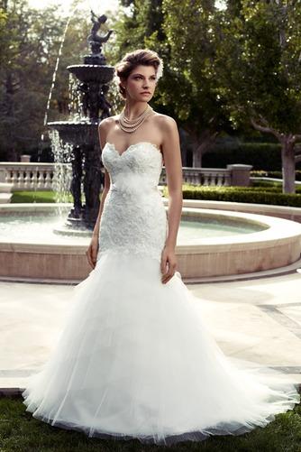 Vestido de novia Corte Sirena Apliques Escote Corazón Natural largo - Página 1