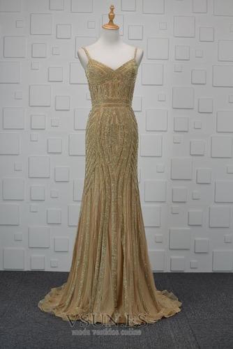 Vestido de noche Colores Escote de Tirantes Espaguetis Espalda medio descubierto - Página 1