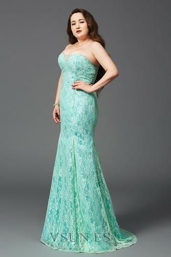 Vestido de noche Elegante Cremallera Rectángulo Sin tirantes Capa de encaje - Página 3