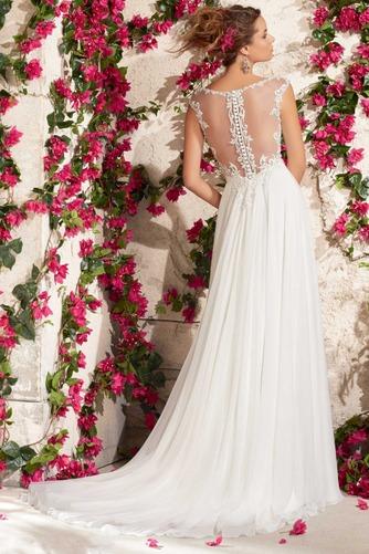Vestido de novia Corte Recto Botón Playa Manga corta Cremallera Encaje - Página 1