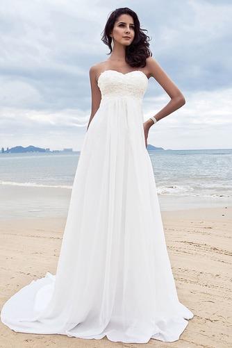 Vestido de novia Clasicos Imperio Cintura Espalda Descubierta Escote Corazón - Página 1