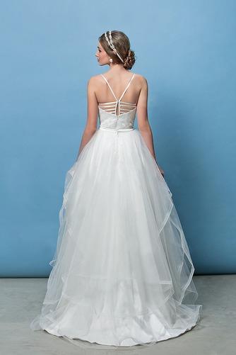 Vestido de novia Corte Recto Espalda Descubierta Glamouroso Escote de Tirantes Espaguetis - Página 4