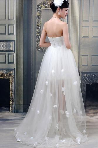 Vestido de novia Sin tirantes Verano Cola Barriba Asimètrico Fuera de casa - Página 3