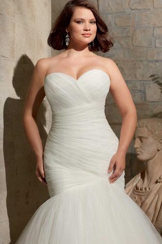 Vestido de novia Formal Espalda con ojo de cerradura Con Chaqueta Dobladillos - Página 3