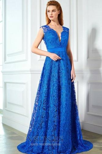 Vestido de noche Capa de encaje Formal Natural Corte-A Lazos Encaje - Página 1