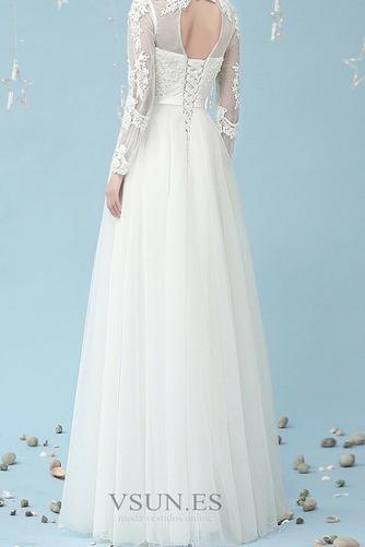 Vestido de novia Romántico Cordón Corte-A Fuera de casa Manga larga - Página 3