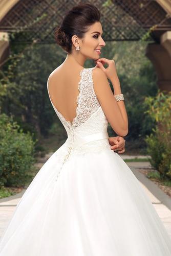 Vestido de novia largo Triángulo Invertido Sala Cinturón de cuentas - Página 4