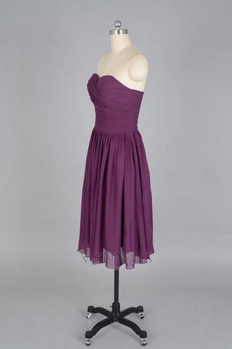 Vestido de dama de honor Verano Sin mangas Gasa Pera Sencillo ciruela persa - Página 2
