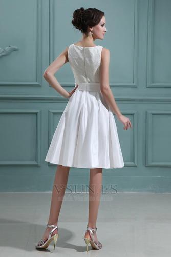 Vestido de novia Playa Oscilación Apliques Natural Corte-A Encaje - Página 4