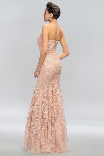 Vestido de noche Elegante Cremallera Encaje Corte-A Sin tirantes Natural - Página 2