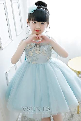 Vestido niña ceremonia Natural Joya Otoño Hasta la Rodilla Lazos Arco Acentuado - Página 4