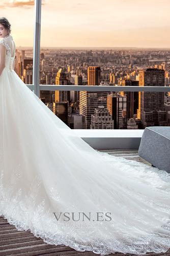 Vestido de novia Encaje Corte-A Natural largo Satén Formal - Página 3