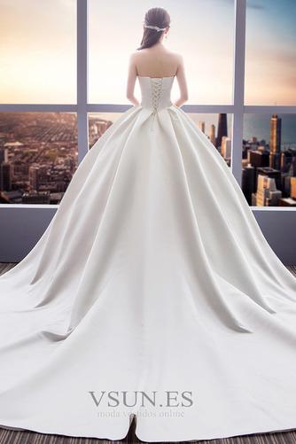 Vestido de novia Sin tirantes Espalda Descubierta Reloj de Arena Cola Catedral - Página 3