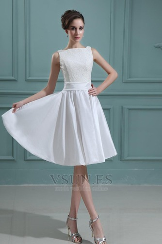 Vestido de novia Playa Oscilación Apliques Natural Corte-A Encaje - Página 2