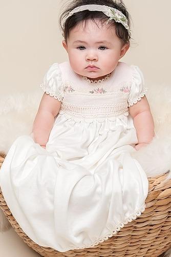 Vestido de Bautizo Joya Bordado Imperio Cintura Hasta el suelo Corte princesa - Página 2