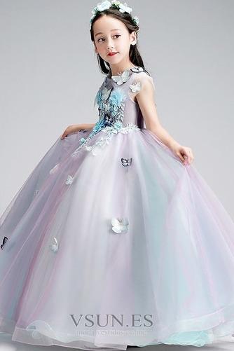 Vestido niña ceremonia Sin mangas Corte-A primavera Joya Natural Formal - Página 5