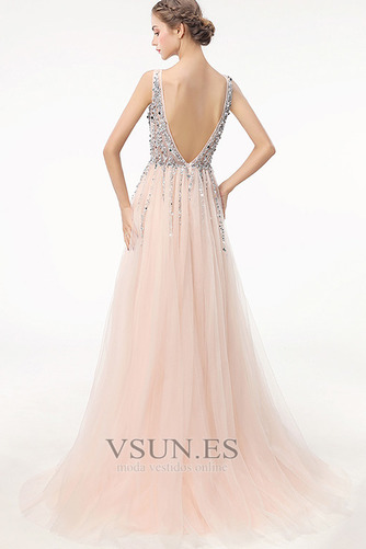 Vestido de fiesta largo Espalda Descubierta Elegante Escote en V Capa Multi - Página 2