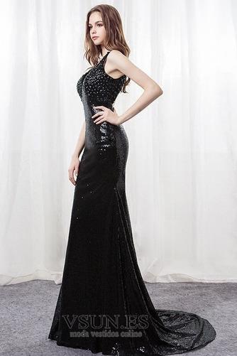 Vestido de fiesta Corte Sirena Sin mangas Corpiño Con lentejuelas Falta - Página 4