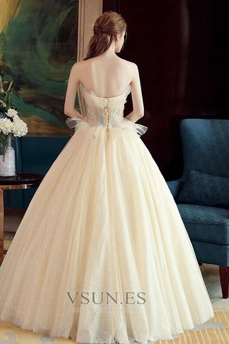 Vestido de novia Sin mangas primavera Corte-A Hasta el suelo tul Apliques - Página 2