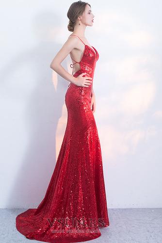 Vestido de fiesta Corpiño Con lentejuelas Corte Sirena Estrellado Natural - Página 3