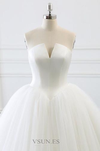 Vestido de novia Corte-A primavera Drapeado largo Cordón Sala - Página 5