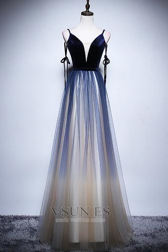 Vestido de fiesta Elegante Corte-A Natural Espalda Descubierta Escote en V - Página 6