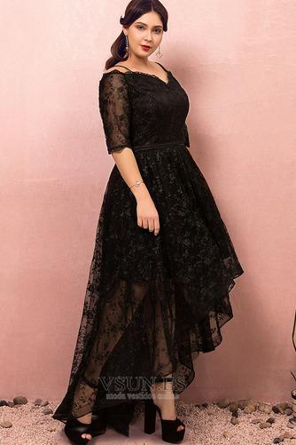 Vestido de fiesta Escote con Hombros caídos Asimètrico Cordón Elegante - Página 3