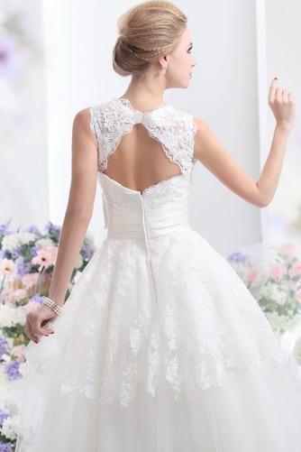 Vestido de novia Hasta el Tobillo Lazos tul Espalda medio descubierto - Página 4