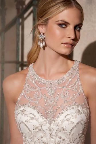 Vestido de novia Corte princesa Organza Moderno Fuera de casa Cremallera - Página 3
