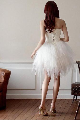 Vestido de novia Corto Asimètrico Natural Cordón Informal Escote Corazón - Página 2