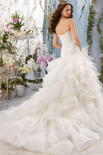 Vestido de novia Invierno Organza Natural Sala Volantes Adorno Glamouroso - Página 2