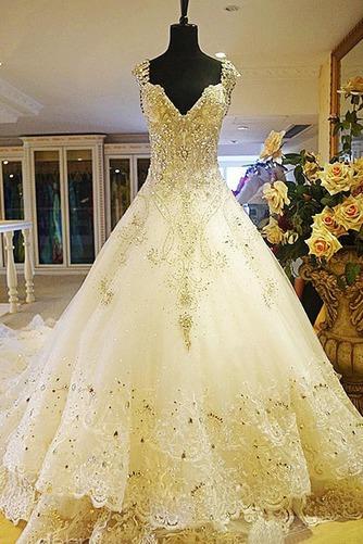 Vestido de novia Iglesia Pura espalda Corte princesa Natural tul Otoño - Página 1