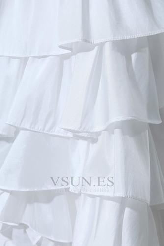 Vestido de novia Alto Bajo Cascada de volantes Fuera de casa Moderno - Página 8