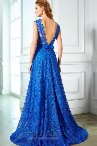 Vestido de noche Capa de encaje Formal Natural Corte-A Lazos Encaje - Página 2