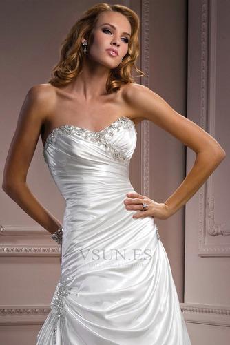 Vestido de novia Sin tirantes Natural Invierno Corte-A Pera Sala - Página 3