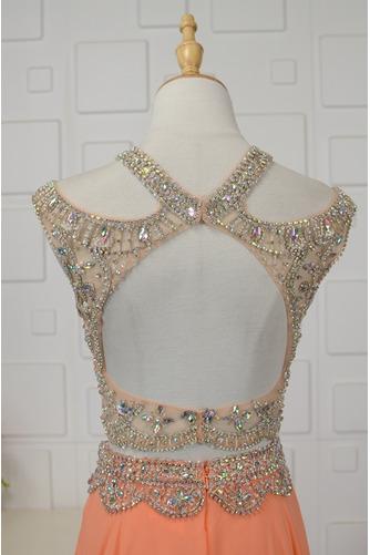 Vestido de noche Estrellado Corte-A Corpiño Acentuado con Perla Gasa - Página 5