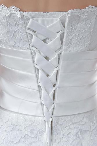Vestido de novia Encaje Falta Corte-A Flores Natural Hasta la Tibia - Página 3
