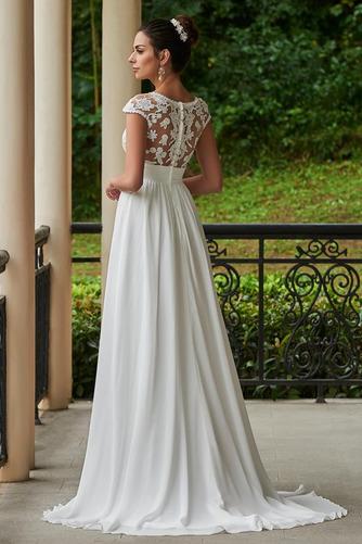 Vestido de novia Encaje Cola Capilla Manga corta Pura espalda Encaje - Página 2