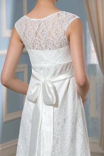Vestido de novia Imperio Cola Barriba Moderno Escote redondo Encaje - Página 4