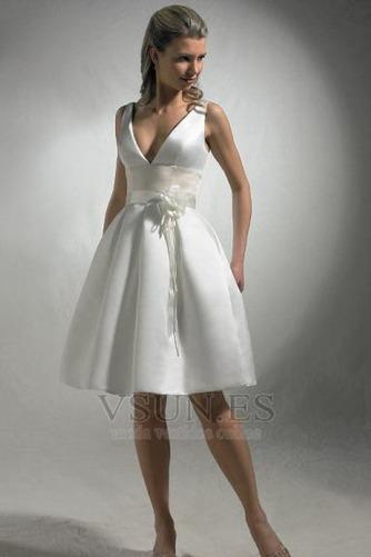 Vestido de novia Corte-A Un tirante con flor Fuera de casa Flores Delgado - Página 1