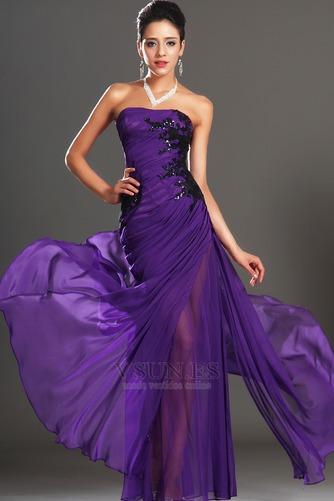 Vestido de noche Encaje Glamouroso Natural Frontal Dividida Apliques - Página 2