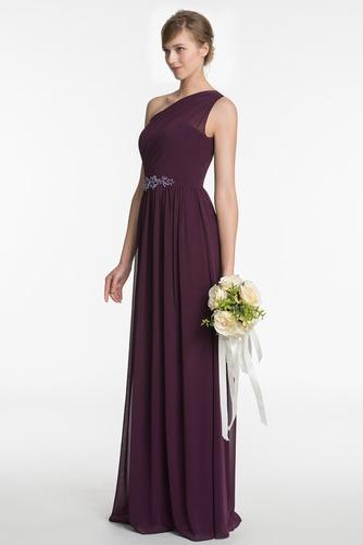 Vestido de dama de honor Espalda medio descubierto Formal Corte-A Drapeado largo - Página 3