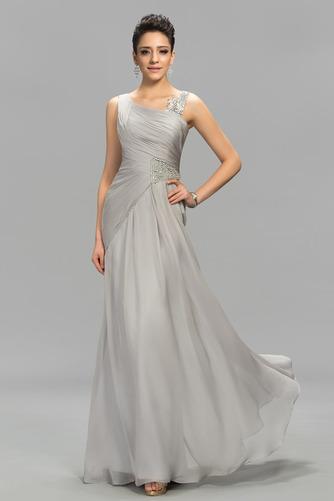 Vestido de noche Elegante Escote Asimètrico Natural Dobladillos Corte-A - Página 1