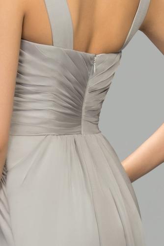Vestido de noche Elegante Escote Asimètrico Natural Dobladillos Corte-A - Página 5